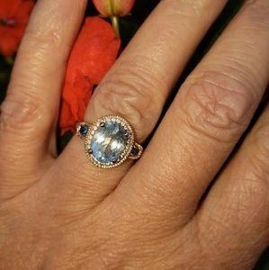 Levian sea blue aquamarine ring